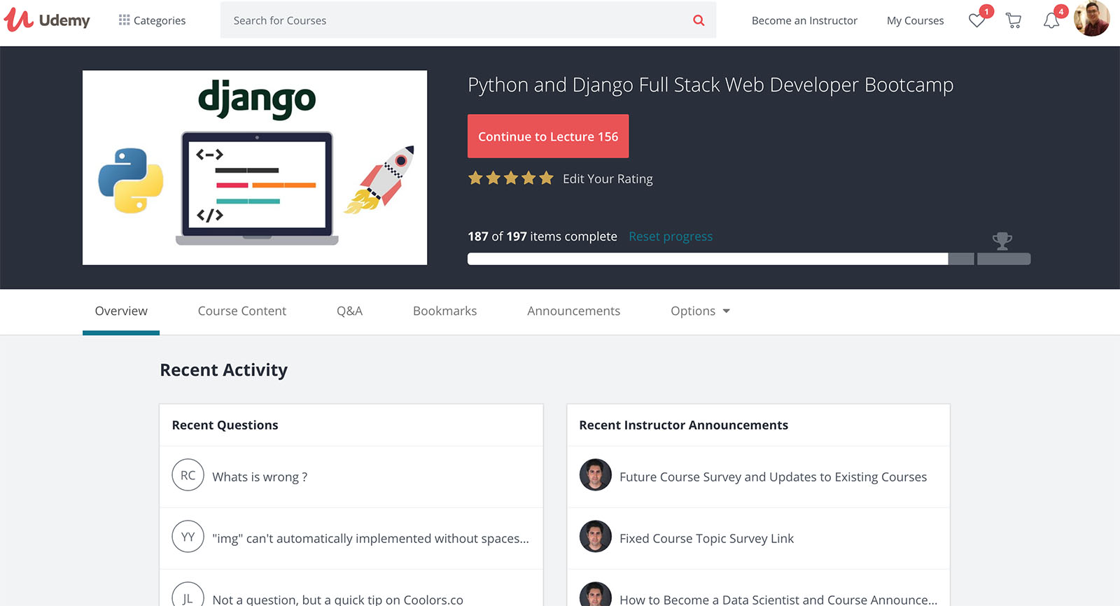 Django Udemy Course