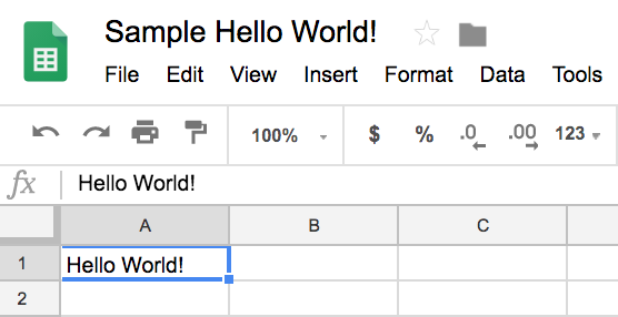 Our Hello World! Python is manipulating data on Google Sheets!