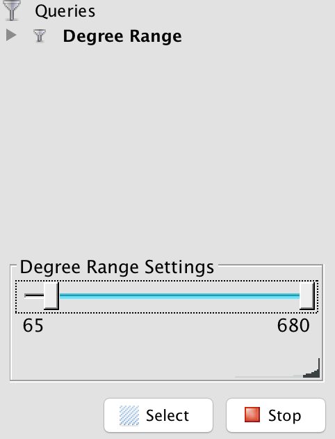 Use degree range to filter your noisy data