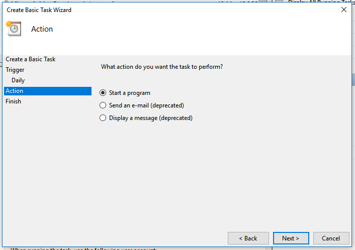 Choose the only non-deprecated option