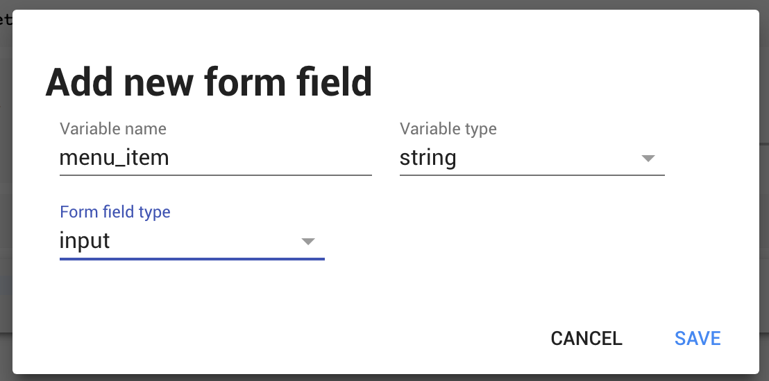 Creating a variable linked to a form